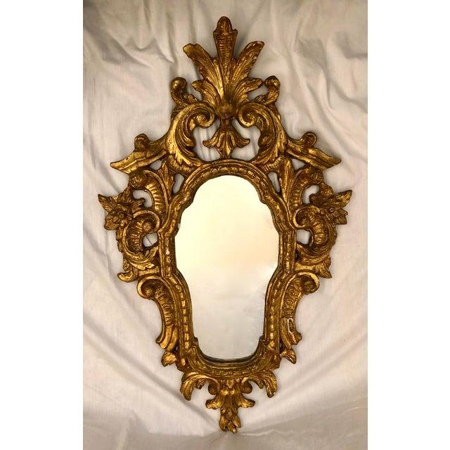 Italian Cornucopia Gilt Wood Mirror, C. 1890-1930 For Sale - Image 13 of 13