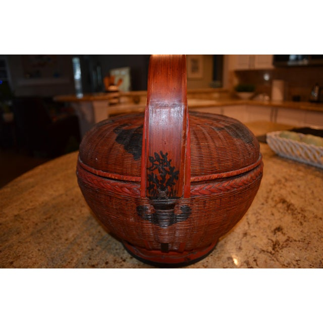 Chinese Vintage Chinese Sewing Basket For Sale - Image 3 of 8