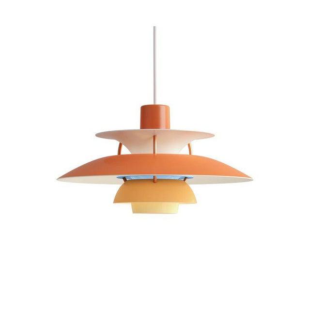 Aluminum Poul Henningsen PH5 Mini Copper Pendant for Louis Poulsen For Sale - Image 7 of 10