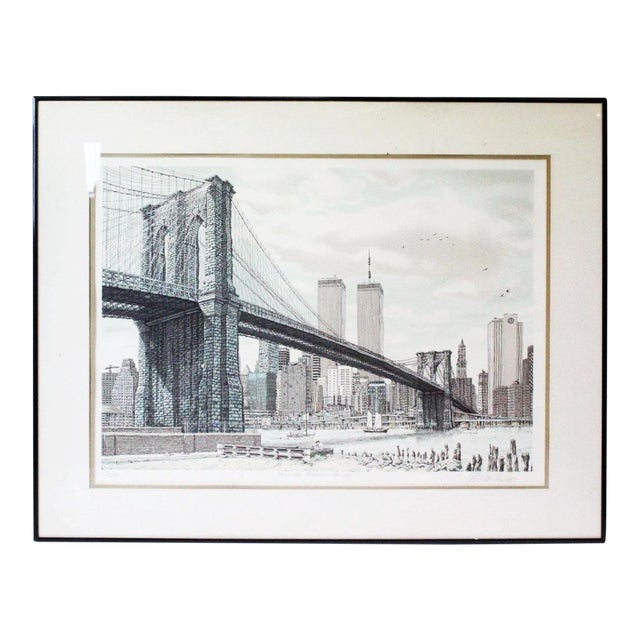 """Hail Brooklyn Bridge"" Print of the Twin Towers For Sale"