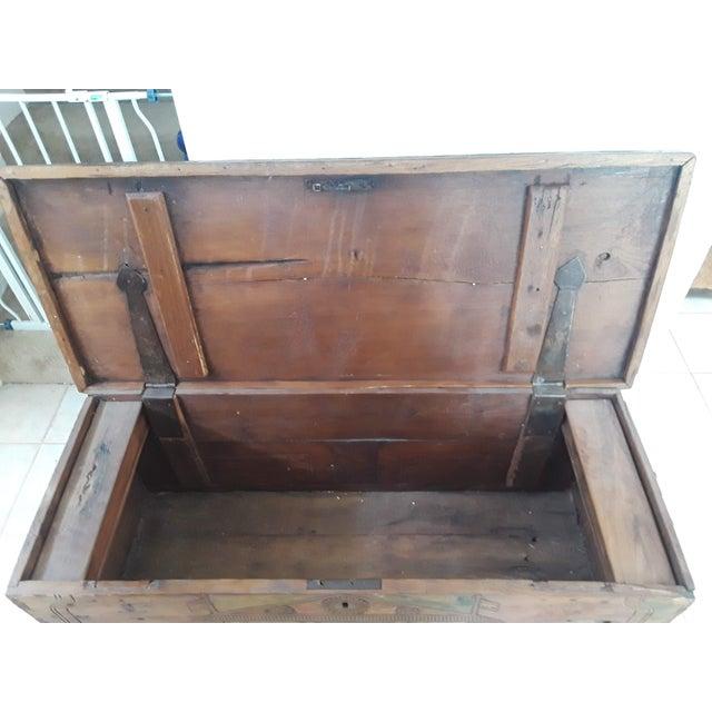 Brown 1980s Javanese Teak Wood Chest For Sale - Image 8 of 13