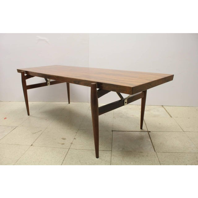 Mid-Century Modern Mid-Century Larsen Style Rosewood Coffee Table For Sale - Image 3 of 5