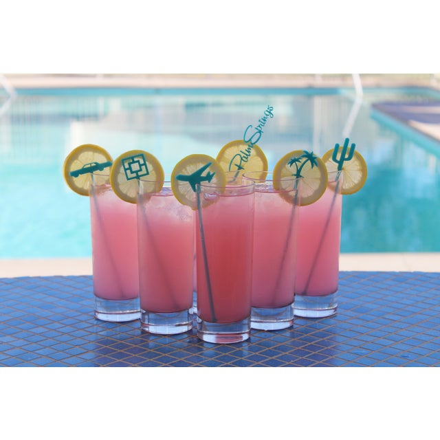 Palm Springs Party Drink Stirrers in Turquoise - 6 - Image 3 of 3