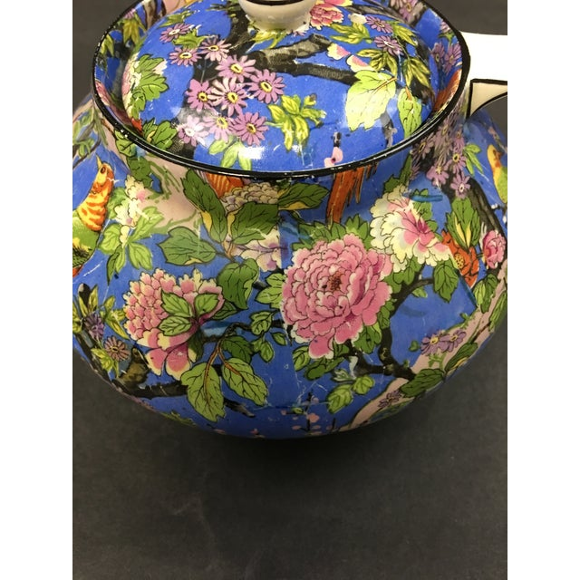 Crown Ducal Ware English Blue Chintz Teapot 1920. This teapot is in excellent condition. See photos. No damage or shipping...