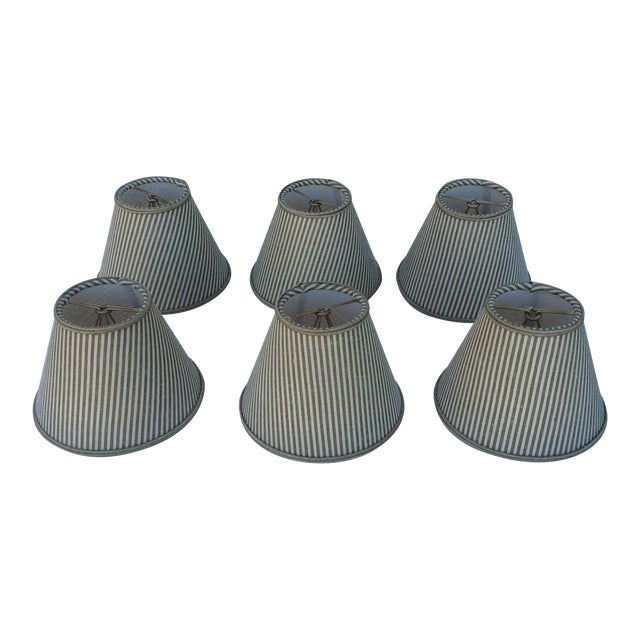 Custom Chandelier Bulb Shades - Set of 6 For Sale