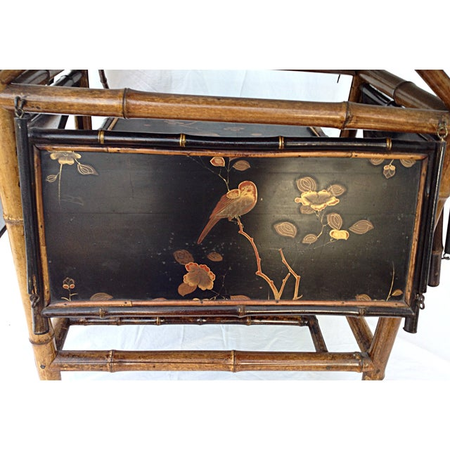 Chinoiserie Black Lacquered Table - Image 5 of 6