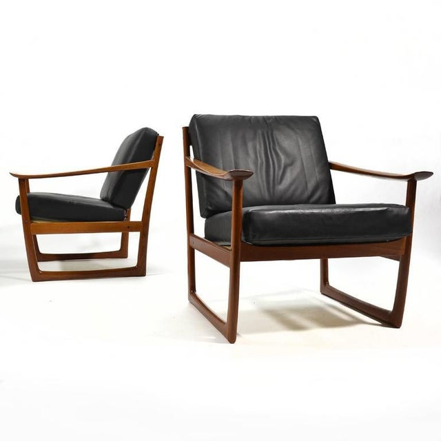 Peter Hvidt & Orla Mølgaard Nielsen Lounge Chairs by France & Son - Image 7 of 10