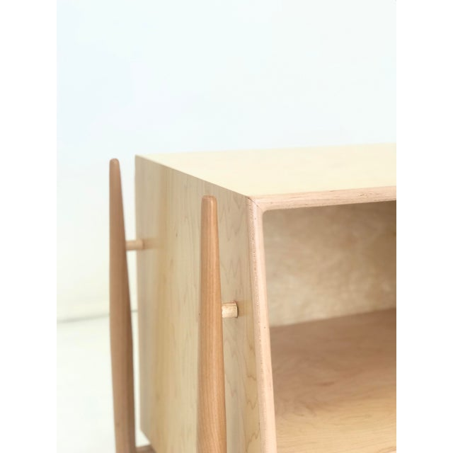 Wood Handmade Sculptural Nighstands in Maple For Sale - Image 7 of 13