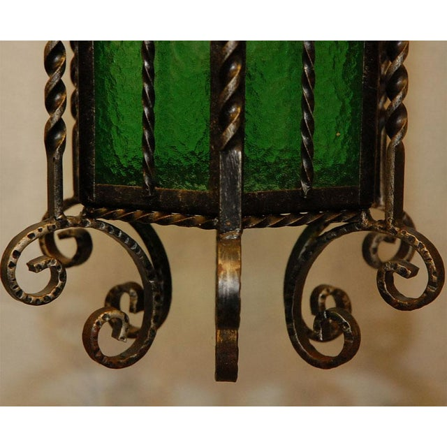 Wrought Iron Lanterns - A Pair For Sale - Image 10 of 10