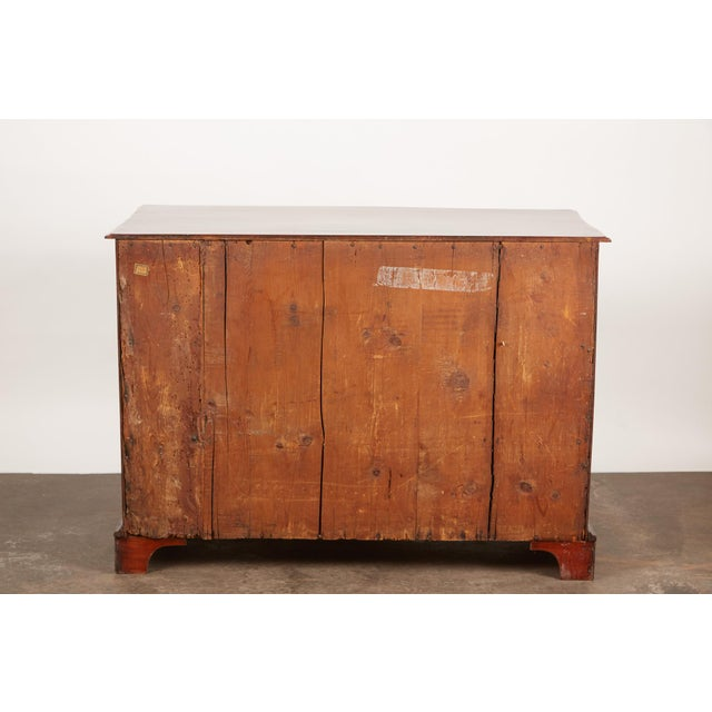 Late 18th Century Danish Mahogany Bowfront Chest For Sale - Image 9 of 9