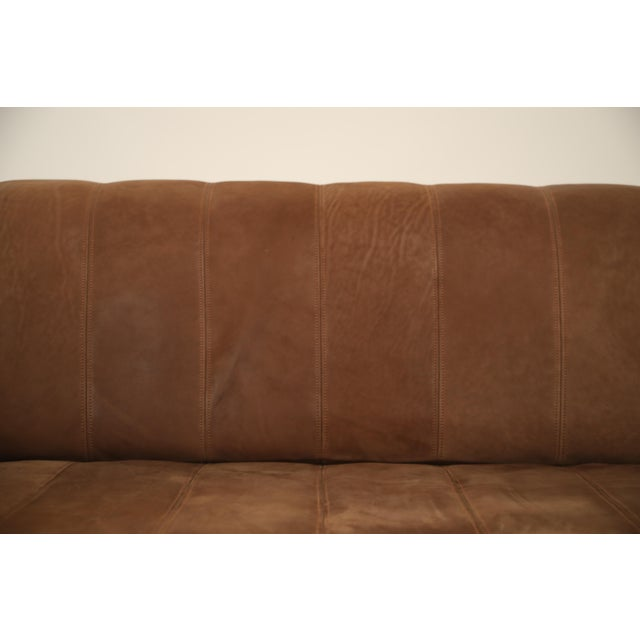 De Sede Aged Buffalo Leather Ds-44 Adjustable Loveseat Sofa, 1970s For Sale In Los Angeles - Image 6 of 13