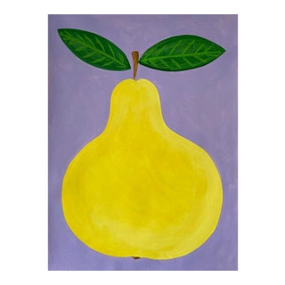 Perky Pear Acrylic Painting For Sale