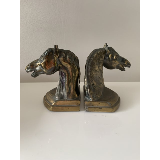 Brass Vintage Equestrian Horse Bookends- a Pair For Sale - Image 8 of 10