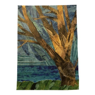 """That Big Tree by the Lake"" Original Collage"