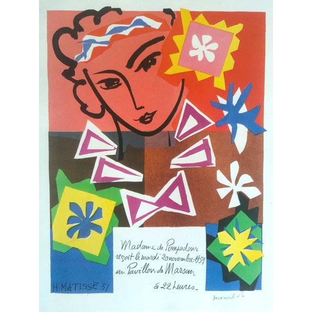 "1989 Matisse Original Vintage ""Bal Arts Decoratifs Mourlot"" Lithograph Print 1951 - Image 2 of 8"