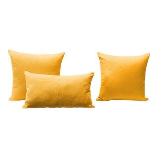 Orange Outdoor Throw Pillows - Set of 3 For Sale