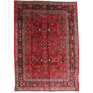 1910s Hand Made Antique Persian Hamadan Rug - 8′10″ × 11′2″ For Sale