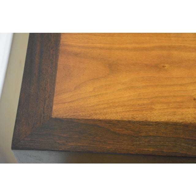 Edward Wormley for Dunbar Mahogany and Walnut Dining Table For Sale - Image 10 of 11