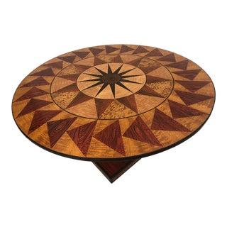 1990s Art Nouveau Leonard Pardon Hand Painted Table Top & Base Imitating Woods For Sale