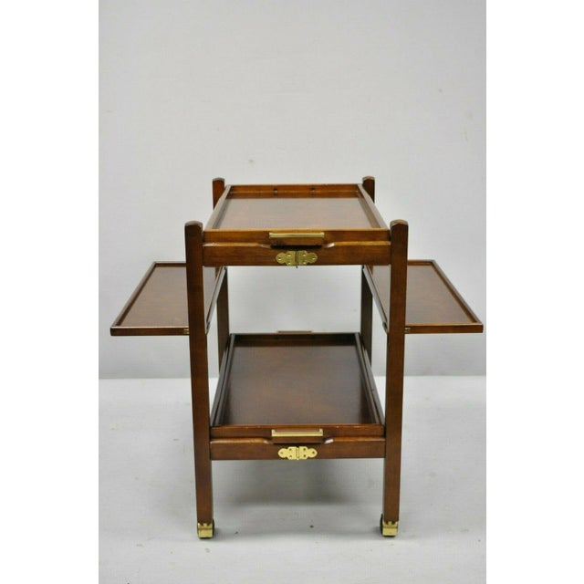 Modern The Bombay Company Modern Rolling Folding Bar Cart For Sale - Image 3 of 13