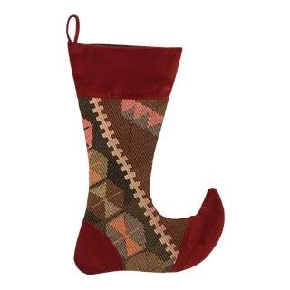 Large Kilim Christmas Stocking   Celebrate