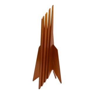 Mid 20th Century Mahogany Geometric Sculpture For Sale