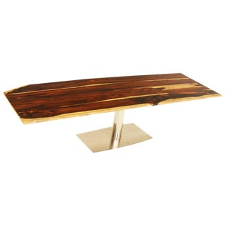 Mid-Century Modern Exotic Brazilian Hardwood Dining Table