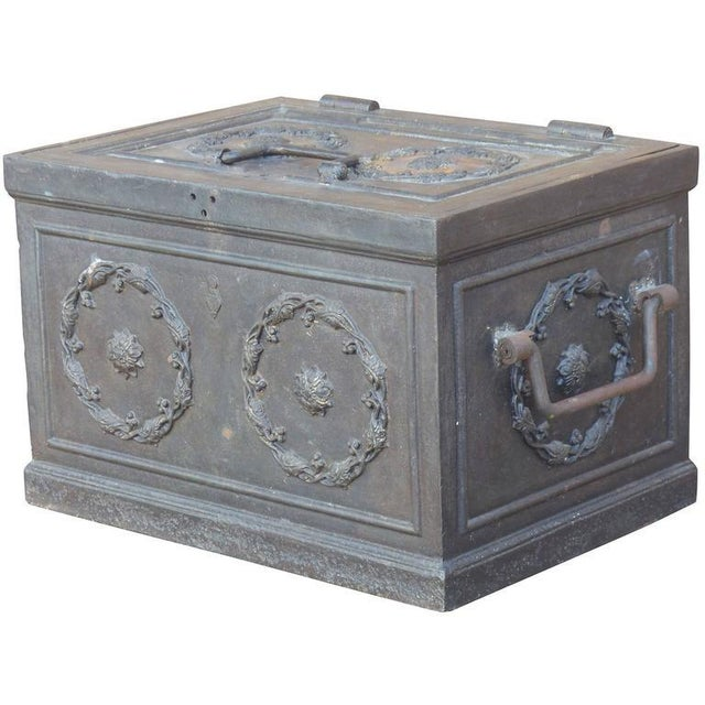 19th Century Antique Decorative Iron Safe For Sale - Image 10 of 10