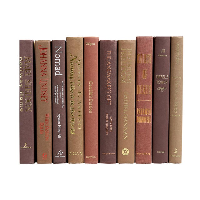 Modern Brown Book Decor For Sale