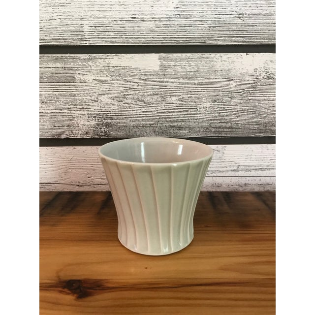 2000 - 2009 Artist-Made Fluted Stoneware Cup For Sale - Image 5 of 5