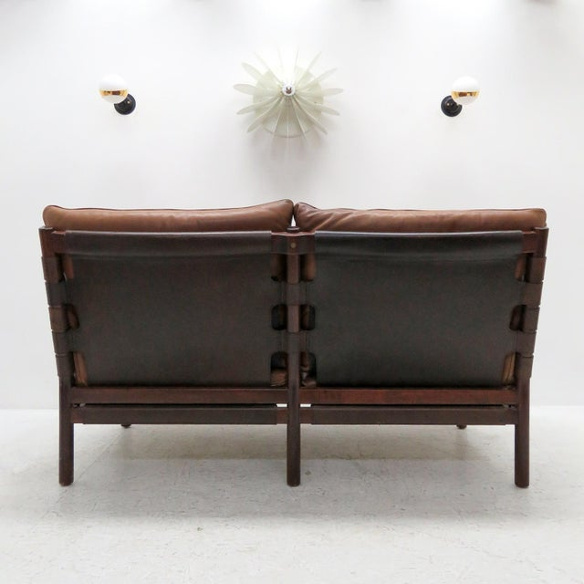 1960's Vintage 'Ilona' by Arne Norell Leather Settee For Sale In Los Angeles - Image 6 of 13