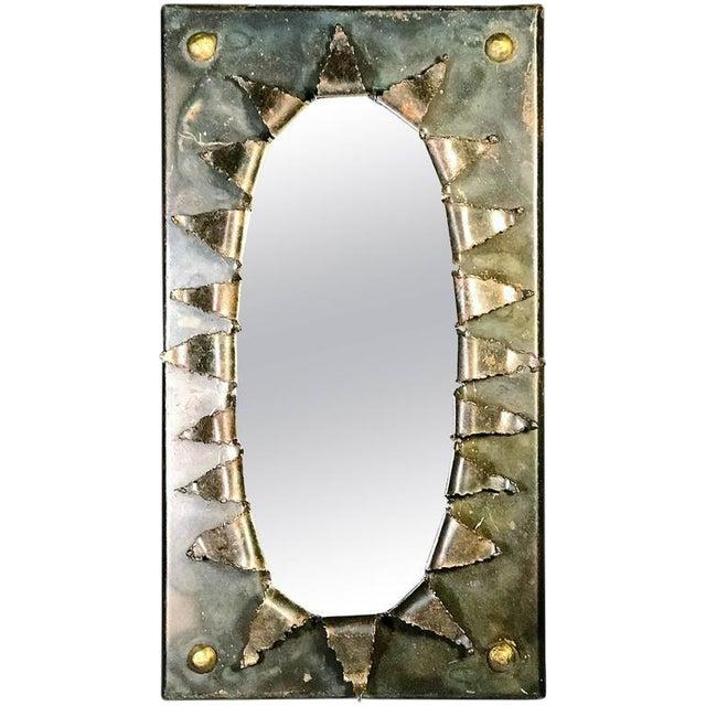 Brutalist Eye Form Mirror For Sale