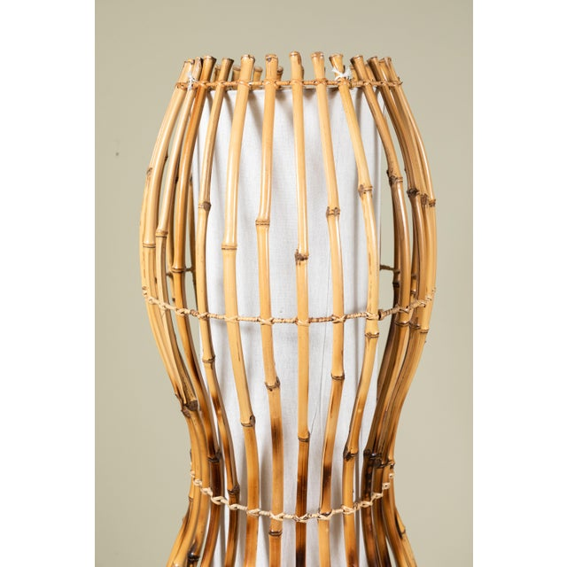 Boho Chic Bamboo Floor or Pendant Hanging Lamp For Sale - Image 3 of 8