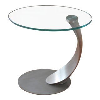 Mid-Century Glass Side Table