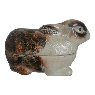 Majolica Rabbit Tureen For Sale