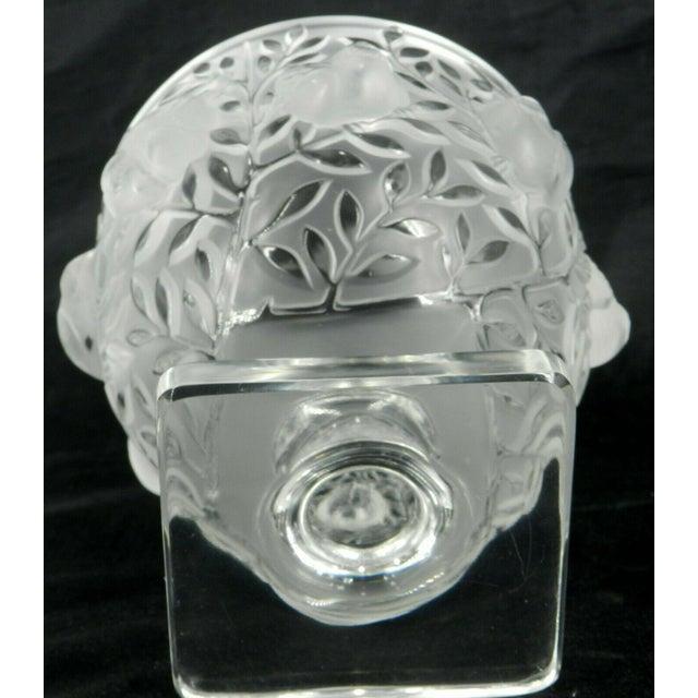 Art Nouveau Lalique France Elizabeth Pedestal Footed Bowl For Sale - Image 3 of 8