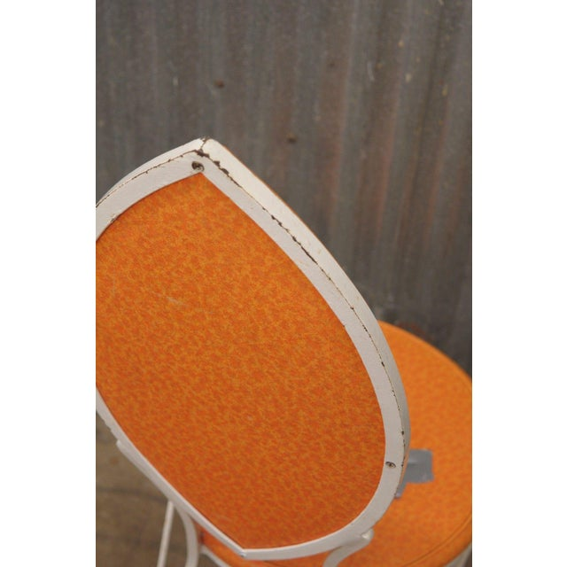 Metal Vintage Wrought Iron Patio Side Chair For Sale - Image 7 of 9