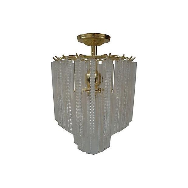 1970s Lucite Prism Hanging Light - Image 2 of 4