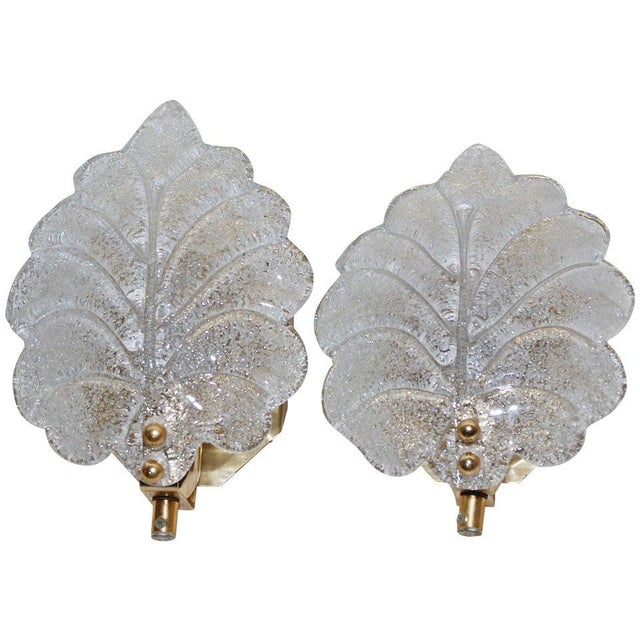 Metal Pair of Sconces Probably Orrefors For Sale - Image 7 of 7