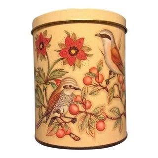 Daher England Birds & Flowers Tin Canister