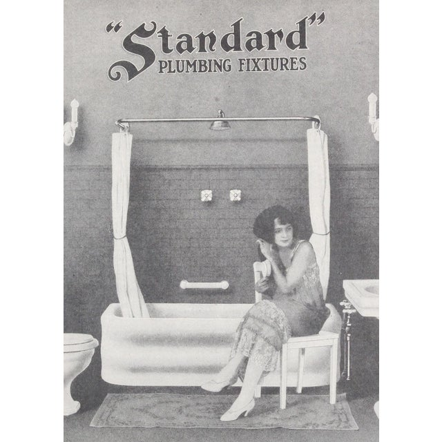 "Framed Art Deco Bathroom Advertisement, ""Saturday Evening Post"" From April 30, 1921 For Sale - Image 4 of 6"