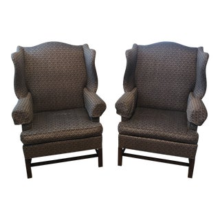 Hickory Chair Wingback Chairs - A Pair For Sale