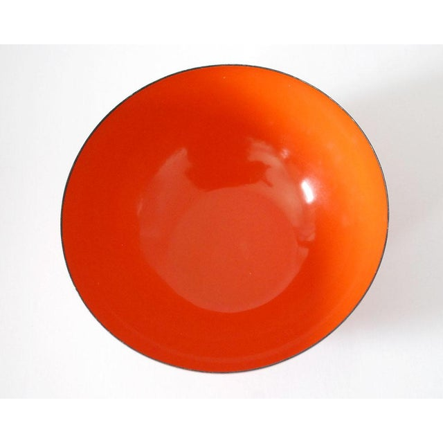 Cathrineholm Cathrineholm Enamelware Orange Lotus Bowl, 1960s For Sale - Image 4 of 6