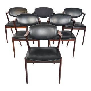 Model 42 Dining Chairs in Rosewood by Kai Kristiansen - Set of 6 For Sale