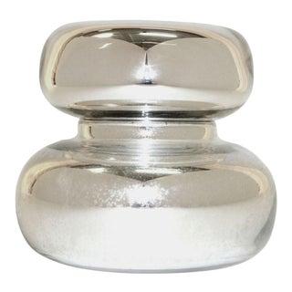 Mercury Glass Lidded Bubble Vessel For Sale