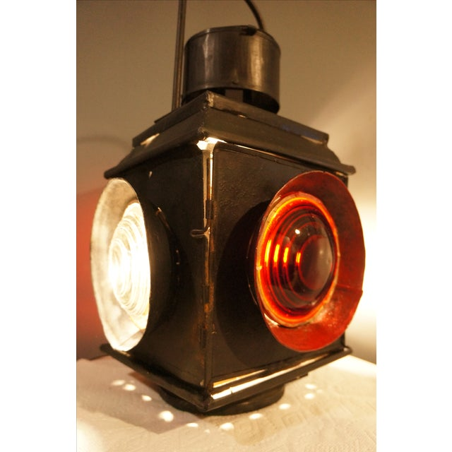 Antique Railroad Signal Light Table Lamp - Image 6 of 8