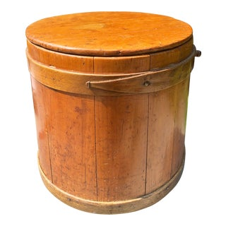 19th Century Americana Shaker Firkin Maple Bucket For Sale
