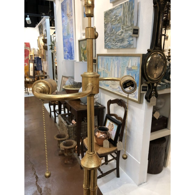 Gilt Metal Bamboo Floor Lamp by Circa Lighting For Sale - Image 11 of 13