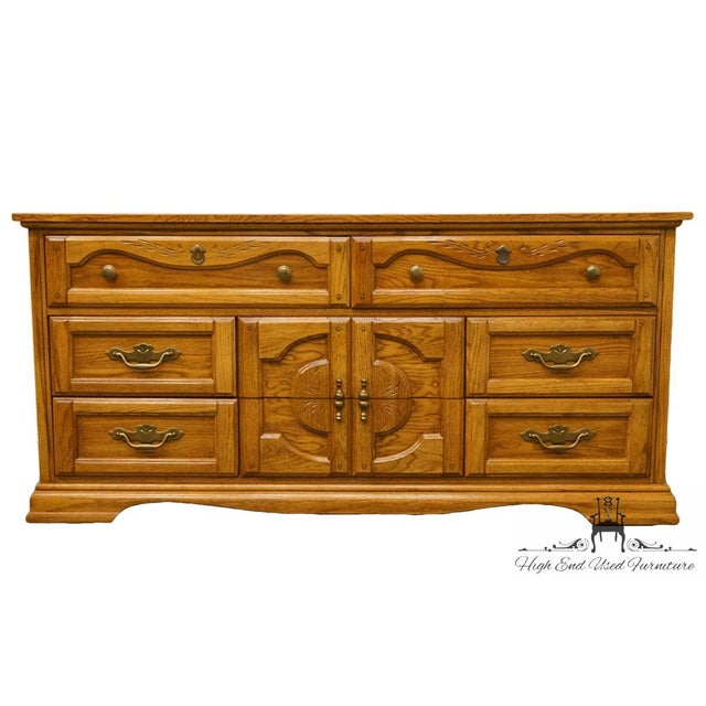 This light brown/ blonde wood can bring a warm feeling to any home. This piece includes 3 drawers in the dresser.