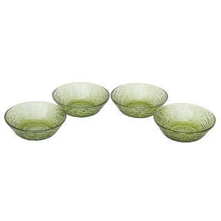 Anchor Hocking 'Soreno' Green Glass Bowls - Set of 4 For Sale